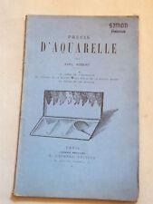 Précis d'Aquarelle Karl Robert 1941 Dessin Paysage Marine Figure Animaux