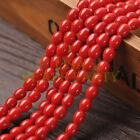 New Arrival 30pcs 9X7mm Teardrop Shape Loose Spacer Glass Beads Red