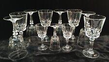 Vintage Clear Stemmed Wine (8) & Cordial (3) Glassware
