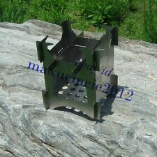 MY stainless alcohol stand wood stove windscreen outdoor picnic caming portable