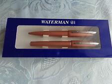 Waterman kitchner cultura-rellenador/bolígrafo set color: cobre metalizado