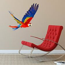 FLYING PARROT ANIMAL NATURE LOUNGE LIVING ROOM BEDROOM WALL STICKER DECAL VINYL