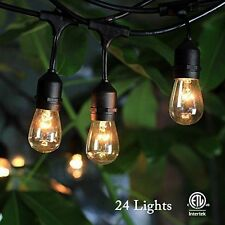 48FT Outdoor Waterproof Commercial Grade Patio Globe String Lights Bulbs US