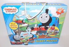 """Cardinal Games Thomas & Friends Wood Giant Puzzle 40 Real Wood Pieces, 24"""" x 18"""""""