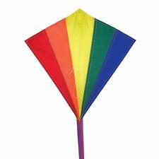 NEW In the Breeze Mini Nylon Rainbow Diamond Kite with Kite line and Kite Bag