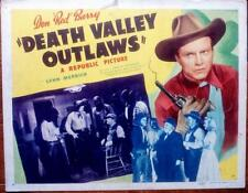 DON RED BERRY DEATH VALLEY OUTLAWS ORIG COWBOY WESTERN REPUBLIC PICTURES LC SET