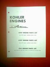 Kohler Engine Models K241P K241S K241As K241S Parts Manual Mid 60'S
