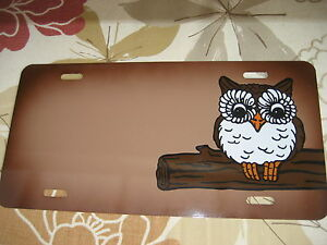 OWL  PICTURE     NOVELTY PLATE  (PK125)