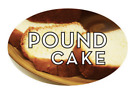 """Pound Cake Labels 500 per Roll Food Store Stickers 1.25"""" x 2"""""""
