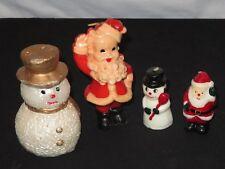 Vintage Christmas Candle Lot Figural Figure Snowman Santa (P823