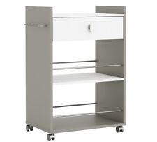 Habeig Küchentresen Bar 110x112x48cm Spanplatte - Schwarz/weiß