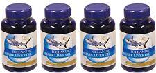 4x Icelandic Shark Liver Oil 500mg, 4x 200= 800 softgels Best Deal Free Shipping