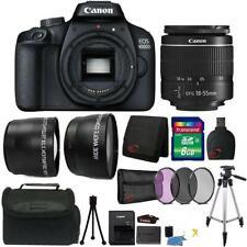 Canon Eos 4000D / Rebel T100 18Mp Digital Slr Camera 18-55mm Lens Premium Kit