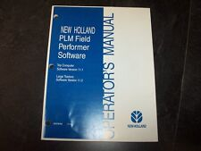New Holland PLM Field Performer Software Owner Operator Manual