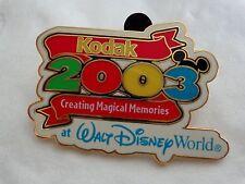 ESTATE  DISNEY 2003 KODAK CREATING MAGICAL MEMORIES LIMITED EDITION PIN
