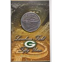 2007 5OTH ANNIV LAMBEAU FIELD MEDAL/FLIP CARD - HOME GREEN BAY PACKERS!- HH15QXX
