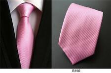rayure rose à motif fait à la main 100% soie CRAVATE Mariage