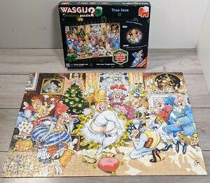 Wasgij? Jumbo, Christmas 2 _ TRUE LOVE 1000 Piece Puzzle complete