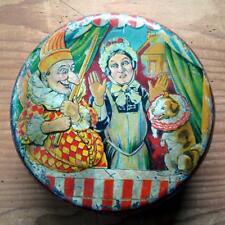 D93 - ORIGINAL VINTAGE 1930s PUNCH AND JUDY BISCUIT TIN
