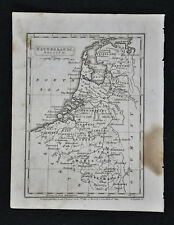 1839 Boynton Map - Netherlands Holland Belgium Amsterdam Brussels Ghent - Europe