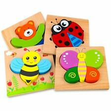 Afufu Puzzle in Legno Giochi Bambini 1 2 3 4 Anni Giocattoli Animali Educativo