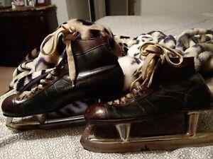 Vintage CCM Mens Ice Hockey Skates Black & brown Size  11