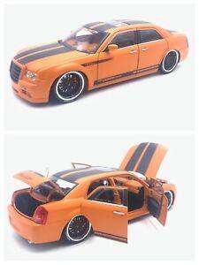 1/18 NOREV Chrysler 300C Orange Black Tuning Parotech 2002 Shipping Home