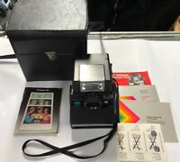 Polaroid Pronto SE Instant Land Camera, ITT Magicflash, Case, Manuals