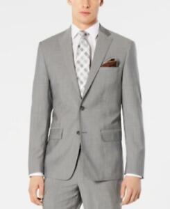 MSRP $525 Dkny Men's Modern-Fit Stretch Light Gray Suit Jacket Size 42 T/L39.5