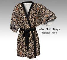 DESIGNER STYLE KIMONO ROBE w/Exclusive Kuba Cloth Design ~ Classy & Stylish