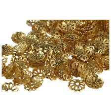 500pcs 6mm Gold Tone Flower Bead Caps for Jewelry Making W8O2