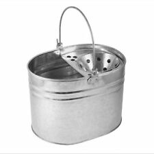 HEAVY DUTY METAL MOP BUCKET GALVANISED STRONG 16 LITRE CAPACITY FOR CLEANING NEW