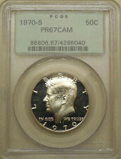 1970-S PCGS PR-67-CAM Kennedy half dollar superb gem proof cameo OGH