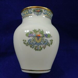 Lenox Autumn Vase Raised Relief Moriage Design Hallmark Stamped on Bottom