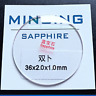 1mm Thick 17-40mm Double Dome Sapphire Watch Crystal Glass Watch Parts