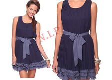 Forever21 Two Tone Pleat Chiffon Tiered Ruffle Dress Cocktail Party Wedding Prom