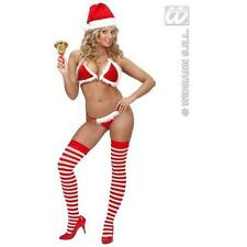 Faux Velvet Red & White Christmas Bikini (Bra & Thong) Mrs Clause Dress Up Sexy