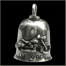Live To Ride Ride to Live Gremlin Bell Motorcycle Cruiser Ride Bell Key Ring