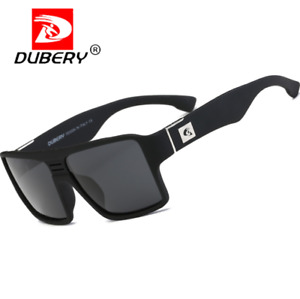 DUBERY Square Polarized Sport Sunglasses For Men Outdoor Driving Fishing Glasses