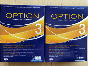 Two Boxes Iso Option 3 Perm For Extra Firm Curl On Normal Resistant Hair New
