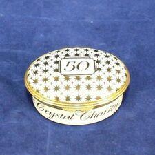 "Halcyon Days Enamels Exclusive ""Crystal Charity Ball"" Dallas Trinket Box 50 Yrs."