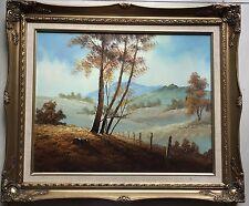 Morris~original painting~beautiful country scene~vintage framed