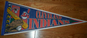 1990s Cleveland Indians Pennant Chief Wahoo MLB Major League Baseball