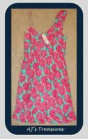 NEW Women's Vineyard Vines Painted Rose Ruffle Dress ~Szs 8 & 14~ Kentucky Derby
