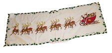 "1995 Lucky Star 70"" Christmas Wall Hanging Santa Clause Reindeer Sleigh Light Up"