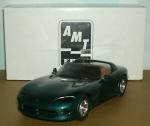 1/25 Scale 1995 Dodge Viper RT/10 Plastic Promo Car Model AMT Ertl 6971 Green