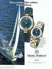 PUBLICITE ADVERTISING  116  1997   Michel Herbelin   montre Newport