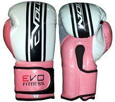 Evo Fitness Damen Boxhandschuhe Pink GEL MMA Kickboxen Muay Thai Sparring