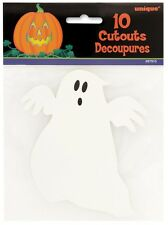 Unique Party 12cm Mini Paper Ghost Halloween Decorations Pack of 10
