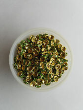 50 green on gold-- 8mm  jeweled wedding ring fishing lure components